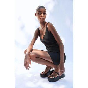 Zara Fitted Mini Dress Black